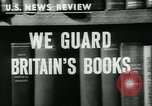 Image of Preserving British books during World War 2 Washington DC USA, 1943, second 4 stock footage video 65675042334