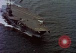 Image of Variety of  U.S. Navy aircraft landing on the USS Forrestal at sea Atlantic Ocean, 1959, second 1 stock footage video 65675042344