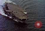 Image of Variety of  U.S. Navy aircraft landing on the USS Forrestal at sea Atlantic Ocean, 1959, second 2 stock footage video 65675042344