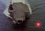 Image of Variety of  U.S. Navy aircraft landing on the USS Forrestal at sea Atlantic Ocean, 1959, second 5 stock footage video 65675042344
