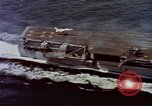Image of Variety of  U.S. Navy aircraft landing on the USS Forrestal at sea Atlantic Ocean, 1959, second 11 stock footage video 65675042344