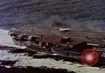 Image of Variety of  U.S. Navy aircraft landing on the USS Forrestal at sea Atlantic Ocean, 1959, second 20 stock footage video 65675042344