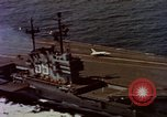 Image of Variety of  U.S. Navy aircraft landing on the USS Forrestal at sea Atlantic Ocean, 1959, second 22 stock footage video 65675042344