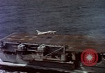Image of Variety of  U.S. Navy aircraft landing on the USS Forrestal at sea Atlantic Ocean, 1959, second 29 stock footage video 65675042344