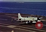 Image of Variety of  U.S. Navy aircraft landing on the USS Forrestal at sea Atlantic Ocean, 1959, second 60 stock footage video 65675042344