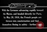 Image of French refugees France, 1918, second 10 stock footage video 65675042373