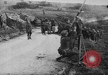 Image of German aircraft downed World War 1 with captured pilot France, 1918, second 50 stock footage video 65675042391
