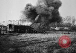 Image of American ammunition dump explodes in World War 1 France, 1918, second 36 stock footage video 65675042394