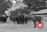 Image of WWI American soldiers at a funeral France, 1918, second 19 stock footage video 65675042397