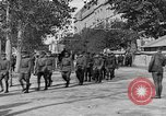 Image of WWI American soldiers at a funeral France, 1918, second 36 stock footage video 65675042397