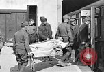 Image of Injured allied soldiers on litters World War I France, 1918, second 33 stock footage video 65675042399