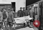 Image of Injured allied soldiers on litters World War I France, 1918, second 35 stock footage video 65675042399