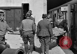 Image of Injured allied soldiers on litters World War I France, 1918, second 43 stock footage video 65675042399