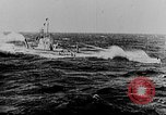 Image of German submarine surrenders to British Q-ship Mediterranean Sea, 1917, second 18 stock footage video 65675042412