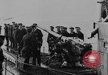 Image of German submarine surrenders to British Q-ship Mediterranean Sea, 1917, second 32 stock footage video 65675042412