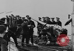 Image of German submarine surrenders to British Q-ship Mediterranean Sea, 1917, second 34 stock footage video 65675042412