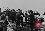 Image of German submarine surrenders to British Q-ship Mediterranean Sea, 1917, second 36 stock footage video 65675042412