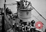 Image of captured U boat Atlantic Ocean, 1918, second 19 stock footage video 65675042419