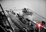 Image of captured U boat Atlantic Ocean, 1918, second 22 stock footage video 65675042419