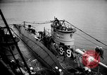 Image of captured U boat Atlantic Ocean, 1918, second 23 stock footage video 65675042419