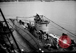 Image of captured U boat Atlantic Ocean, 1918, second 27 stock footage video 65675042419