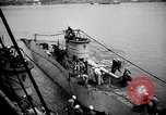 Image of captured U boat Atlantic Ocean, 1918, second 35 stock footage video 65675042419