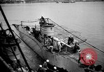 Image of captured U boat Atlantic Ocean, 1918, second 36 stock footage video 65675042419