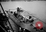 Image of captured U boat Atlantic Ocean, 1918, second 37 stock footage video 65675042419