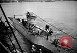 Image of captured U boat Atlantic Ocean, 1918, second 39 stock footage video 65675042419