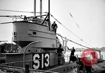 Image of captured U boat Atlantic Ocean, 1918, second 40 stock footage video 65675042419