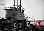 Image of captured U boat Atlantic Ocean, 1918, second 41 stock footage video 65675042419