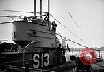 Image of captured U boat Atlantic Ocean, 1918, second 42 stock footage video 65675042419