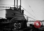 Image of captured U boat Atlantic Ocean, 1918, second 43 stock footage video 65675042419