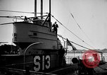 Image of captured U boat Atlantic Ocean, 1918, second 44 stock footage video 65675042419