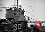 Image of captured U boat Atlantic Ocean, 1918, second 45 stock footage video 65675042419