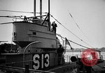 Image of captured U boat Atlantic Ocean, 1918, second 46 stock footage video 65675042419