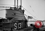 Image of captured U boat Atlantic Ocean, 1918, second 47 stock footage video 65675042419