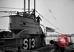 Image of captured U boat Atlantic Ocean, 1918, second 48 stock footage video 65675042419