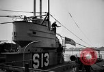 Image of captured U boat Atlantic Ocean, 1918, second 49 stock footage video 65675042419