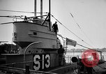 Image of captured U boat Atlantic Ocean, 1918, second 52 stock footage video 65675042419