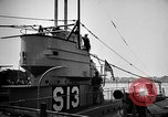 Image of captured U boat Atlantic Ocean, 1918, second 53 stock footage video 65675042419