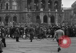 Image of German citlzens gathering on Unter den Linden Berlin Germany, 1920, second 40 stock footage video 65675042454