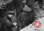 Image of British soldiers sharing Christmas pudding in trenches France, 1916, second 47 stock footage video 65675042463