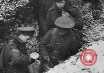 Image of British soldiers sharing Christmas pudding in trenches France, 1916, second 48 stock footage video 65675042463