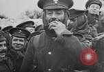 Image of British soldiers sharing Christmas pudding in trenches France, 1916, second 57 stock footage video 65675042463