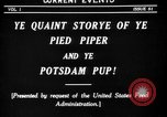 Image of Animated Uncle Sam as Pied Piper United States USA, 1918, second 4 stock footage video 65675042476