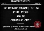 Image of Animated Uncle Sam as Pied Piper United States USA, 1918, second 12 stock footage video 65675042476