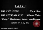 Image of Animated Uncle Sam as Pied Piper United States USA, 1918, second 17 stock footage video 65675042476