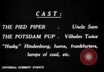 Image of Animated Uncle Sam as Pied Piper United States USA, 1918, second 22 stock footage video 65675042476