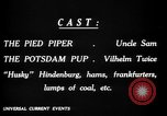 Image of Animated Uncle Sam as Pied Piper United States USA, 1918, second 28 stock footage video 65675042476